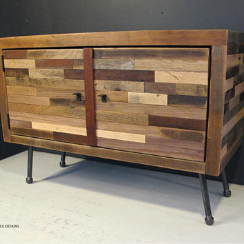 Reclaimed Wood TV Stand , Modern Reclaimed Wood Media Console