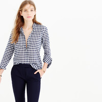 Boy Shirt In Crinkle Gingham : Women's Shirts | J.Crew