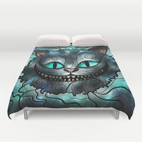 Were all mad here Duvet Cover by Mandie Manzano