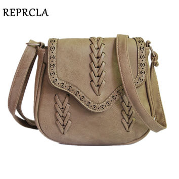 REPRCLA Newest Fashion Women Bag Weave PU Leather Handbags Crossbody Vintage  Small Messenger Bags For Gift 872a2766fe9dd