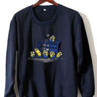 minions stealing tardis Sweatshirt Crewneck Men or Women Unisex Size