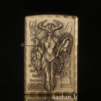 Game League Of Legends Vintage Character Lighter - Shyvana