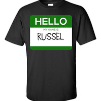 Hello My Name Is RUSSEL v1-Unisex Tshirt