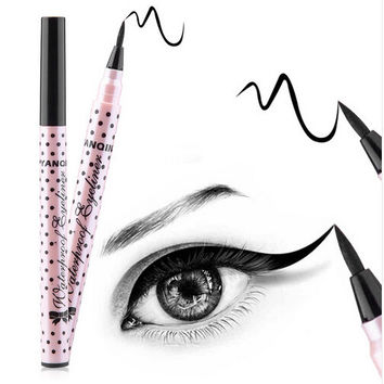 1 Pcs Black Long Lasting Eye Liner Pencil Waterproof Eyeliner Smudge mantra Cosmetic Beauty Makeup Liquid Eyeliner Pen   A3