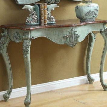Blade Antique Light Blue Console Table 90128