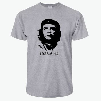 2018 Summer Fashion Che Guevara T Shirt Men Cotton Cool High Quality Printed Tops Short Sleeves Tees