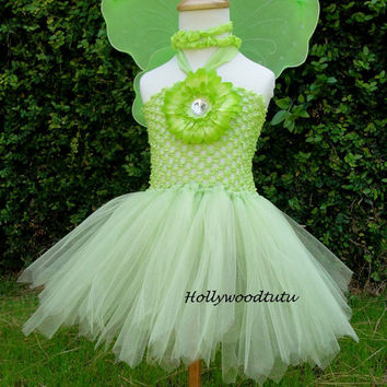 Baby girl Fairy Tinkerbell  inspired tutu dress by Hollywoodtutu