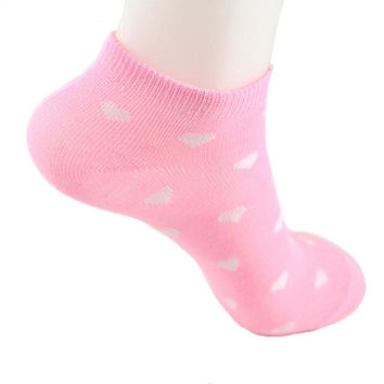 Korean Socks  Lovely Love socks female pink Cheap Socks Chaussettes Femme Fantaisie #0015