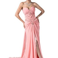 Dressystar Women's Chiffon Dress Long Party Gown