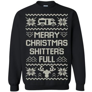 Zexpa Apparel™ Merry Christmas Shitters Full Unisex Crewneck Xmas Ugly Sweater Funny Sweatshirt