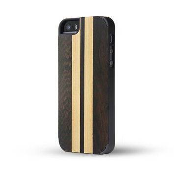 Concise Style Wenge & Solid Wood Matching Wooden Case For iphone 5 5S