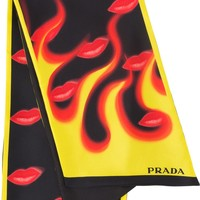 Kissing Flames Scarf by Prada