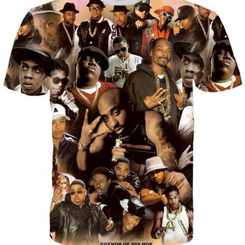 Hip Hop Legends Designer Paint 3d Print Tee