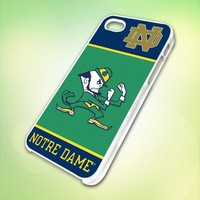 HP217 Notre Dame Fighting Irish NCAA design for iPhone 4 or 4S Case