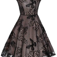 Black Butterfly Lace Dress