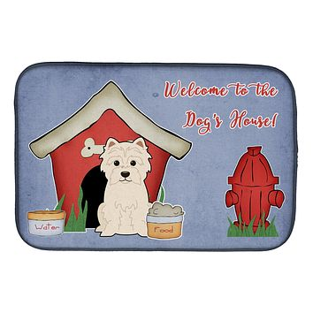 Dog House Collection Westie Dish Drying Mat BB2796DDM