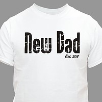 Personalized New Dad T-Shirt