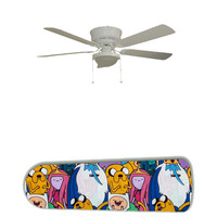 """Adventure Time 52"""" Ceiling Fan and Lamp"""