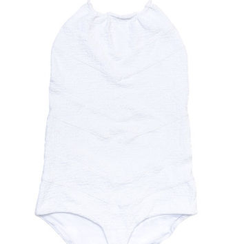 Beach Riot // Stone Cold Fox Rosemary One Piece in White Texture