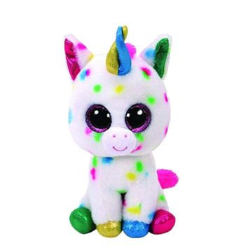 sermoido TY 6'' Beanie Boos HARMONIE - Speckled Unicorn Collectible Soft Big Eyes Plush Animal Toys For Kids