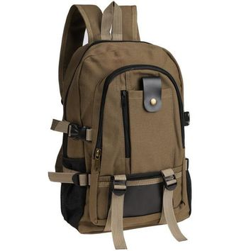 Men Women Canvas Backpack Unisex Outdoor Military Backpack Camping Hiking Bag Trekking Sport Rucksacks
