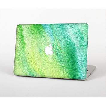"The Vibrant Green Watercolor Panel Skin Set for the Apple MacBook Pro 13"" with Retina Display"