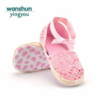 baby girls Sandal toddler princess footwear new born baby crochet shoes Summer Butterfly-knot bebes infant lace soft sole walker