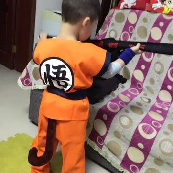 Children's Anime Dragon Ball Z Monkey Cosplay Costumes Boys Son Goku Costume Kids Halloween Japanese Costume