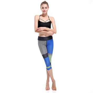 Patchwork Yoga Pants Quick Drying