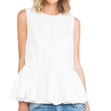 Cameo With Fire Top in White