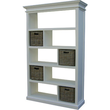 "Infinita Corporation Halifax Open 74.75"" Bookcase & Reviews 