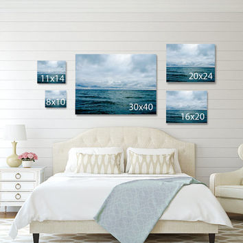 Cloud Canvas Art, Sky Nursery Wall Decor, Blue Canvas, Large Wall Art, Nature Photography Canvas, 20x24 Picture