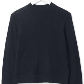 Cashmere Blend Sweater by Boutique - Navy Blue