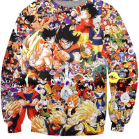 Dragon Ball Z Collage Sweatshirt