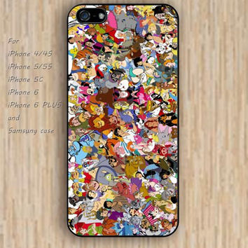 iPhone 5s 6 case Cartoon characters case colorful phone case iphone case,ipod case,samsung galaxy case available plastic rubber case waterproof B264