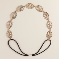 Gold Leaf Elastic Headband - World Market