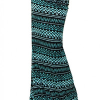 Tribal Print Maxi Skirt - Curvy