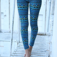 Cool River Colors Leggings