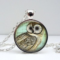 Regal Owl Pendant Necklace