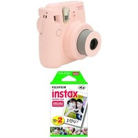 Fujifilm Instax Mini 8 Instant Film Camera (Pink) with Twin Pack Instant Film (White)