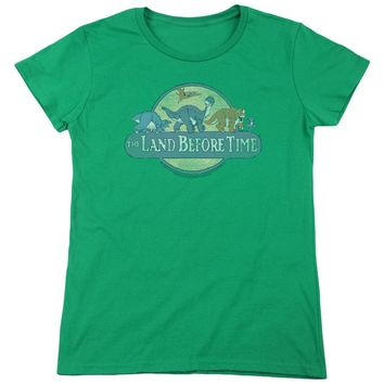 Land Before Time - Retro Logo Short Sleeve Women's Tee Shirt Officially Licensed T-Shirt