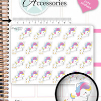 Pay Day Stickers PayDay Planner Stickers Money Stickers Kawaii Unicorn Stickers Kawaii Stickers Erin Condren Functional Stickers NR1578