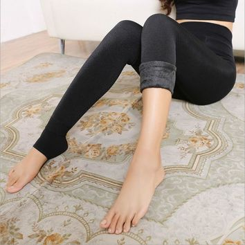 Stylish Velvet Thick Long Leggings