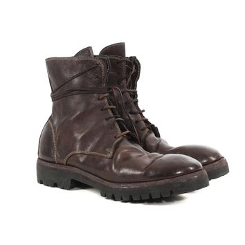 Guidi Brown Combat Boots