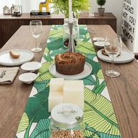 Green Banana Leaves A Table Runner