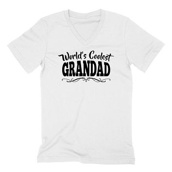 World's coolest grandad Father's day birthday gift ideas for new grandpa proud grandfather gifts for him  V Neck T Shirt