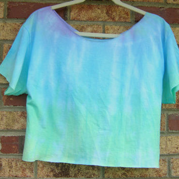 BEACH BUM hand dyed ombre crop top, size S/M