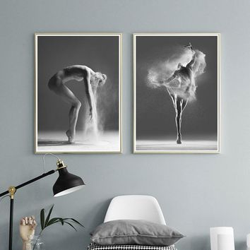 Dance Painting Black And White Photography Poster Ballerina nordic poster modern Home Decoration canvas wall art for bedroom