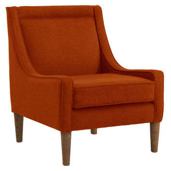 Scarlett Swoop-Arm Chair, Tangerine, Accent & Occasional Chairs