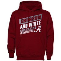 Men's Alabama Crimson Tide Crimson Up Trend Hooded Sweatshirt